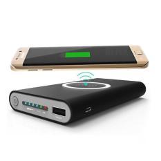 Sạc không dây W10 thông minh chuẩn Qi kiêm pin dự phòng 10000 mAh cho Iphone 8, iphone X,Samsung Galaxy S9, Note8