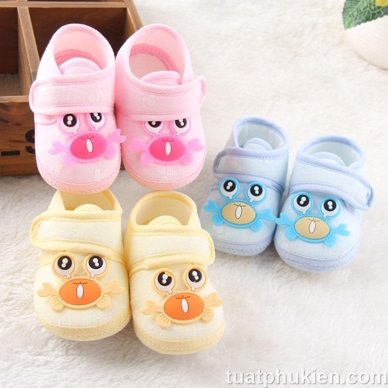 Giày tập đi con cua cho bé trai và bé gái nhiều màu