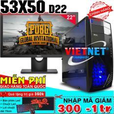Máy tính VNgame 53X50-D22 i5 3470 GTX 1050Ti Ram 8GB 500GB + Dell 22″ (chiến PUBG, GTA5, LOL, Fifa 4, CF)