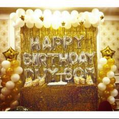 Set trang trí sinh nhật Tặng kèm bơm bóng băng dính và ruy băng buộc bóng – phụ kiện sinh nhật đẹp lung linh