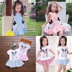 Giới thiệu Com bo 2 Váy đáng yêu cho bé gái. (Cho bé từ 9 tháng- 6 tuổi)