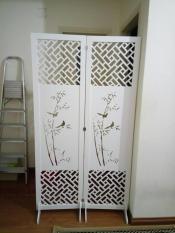 Bộ 2 tấm vách bình phong Cây trúc 180x50cm (Tặng kèm bộ chân vách) – HOME DECOR