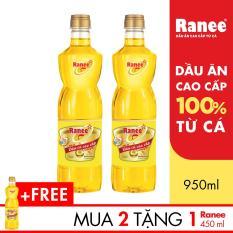 Combo 2 chai Dầu ăn cao cấp từ cá Ranee 950ml + Tặng 1 chai Dầu ăn cao cấp từ cá Ranee 450ml