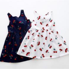 Váy cherry cho bé gái