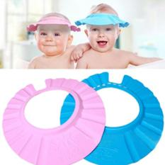 Bộ 2 Nón chắn nước có cúc dày dặn cho bé (Xanh- hồng)