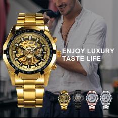 Đồng hồ cơ đeo tay vàng ánh kim