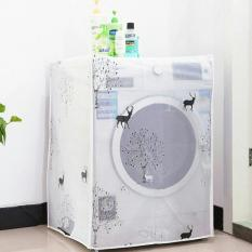 Áo trùm máy giặt chống bụi mẫu mới loại dày cao cấp – cửa trước