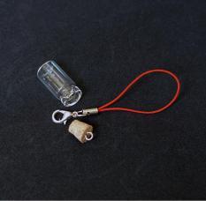 Lọ thủy tinh mini 1ml nút nhựa cho các bạn làm đồ trang trí, bùa may mắn, móc chìa khóa, đựng thuốc bột