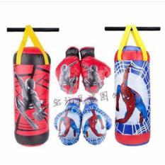 Túi Đấm Boxing + 2 Găng Tay Người Nhện Spider Man (Loại Lớn) Cho Bé