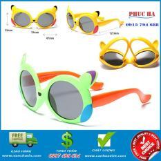Kính cho bé trai bé gái Bộ 2 cái, kính mát chống UV gọng dẻo siêu nhẹ an toàn