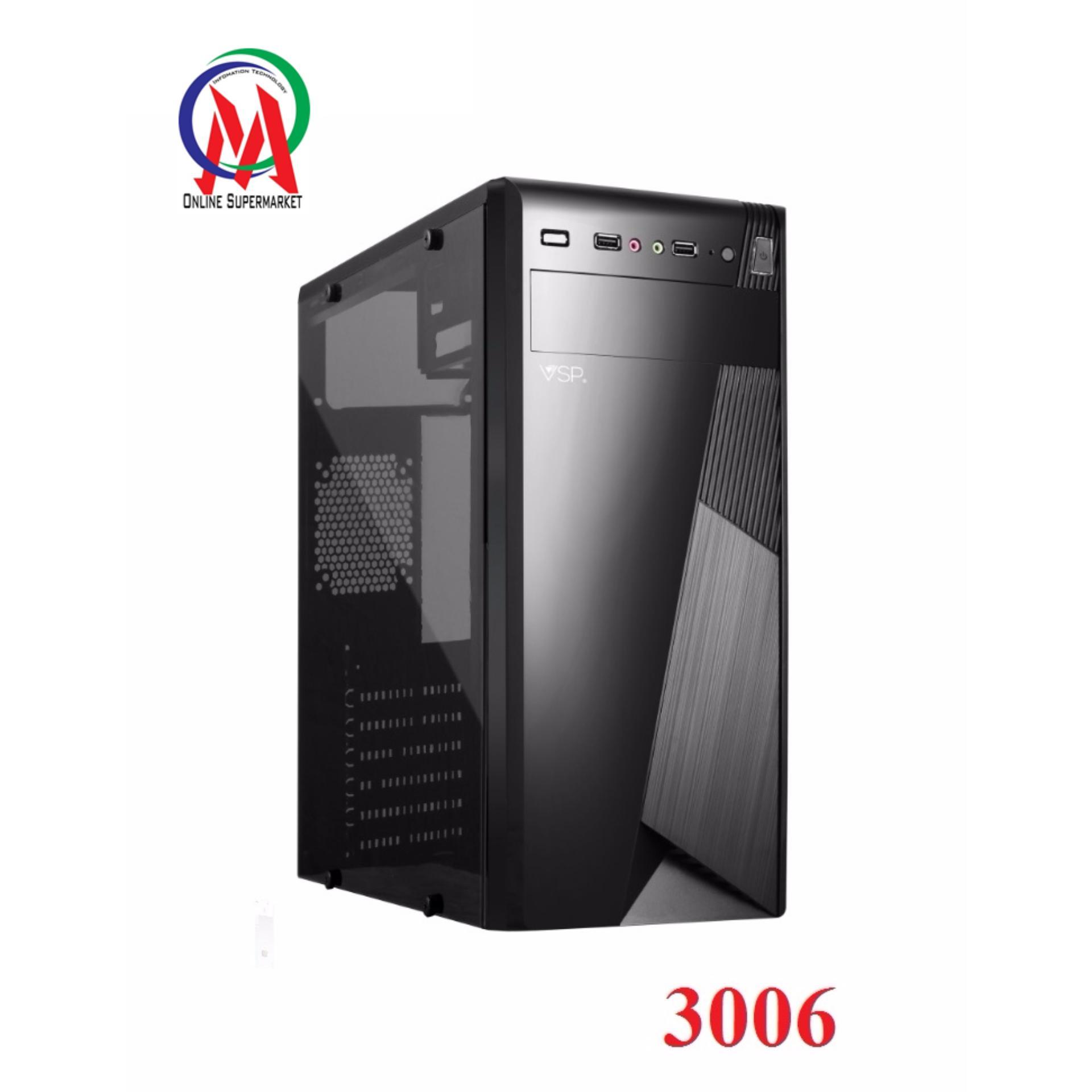 So sánh giá Vỏ Case máy tính VSP 3006 Full Kính bên hông trong suốt sơn tĩnh điện Tại IT ONMART 3