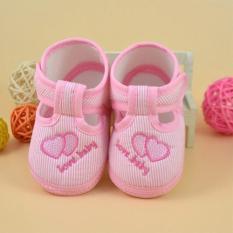 Giày tập đi cho bé gái hình trái tim-TDV013-12