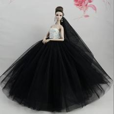 Búp Bê Cô Dâu 3D Váy Bồng Bềnh – Đen