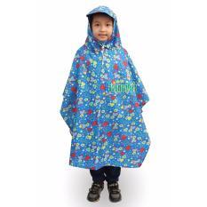 Áo mưa trùm đầu họa tiết ngộ nghĩnh cho bé trai (màu ngẫu nhiên)