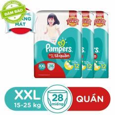 Bộ 3 Tã Quần Pampers XXL28 (15-25kg)