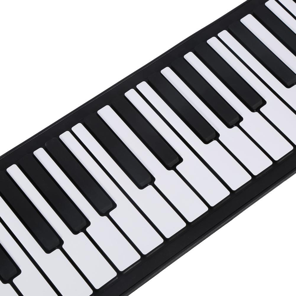 Portable 61-Keys Roll up Soft Silicone Electronic Digital Music Piano Keyboard - intl