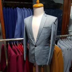 Bộ vest nam hàn quốc ôm body kiểu đơn giản tông xám ghi