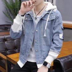 Áo khoác nam vải jean liền mũ AKN10