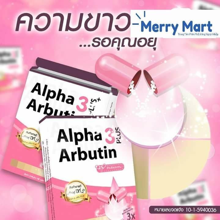 Viên Kích Trắng Alpha Arbutin 3 Plus+ Thái Lan (1 hộp 10 viên)