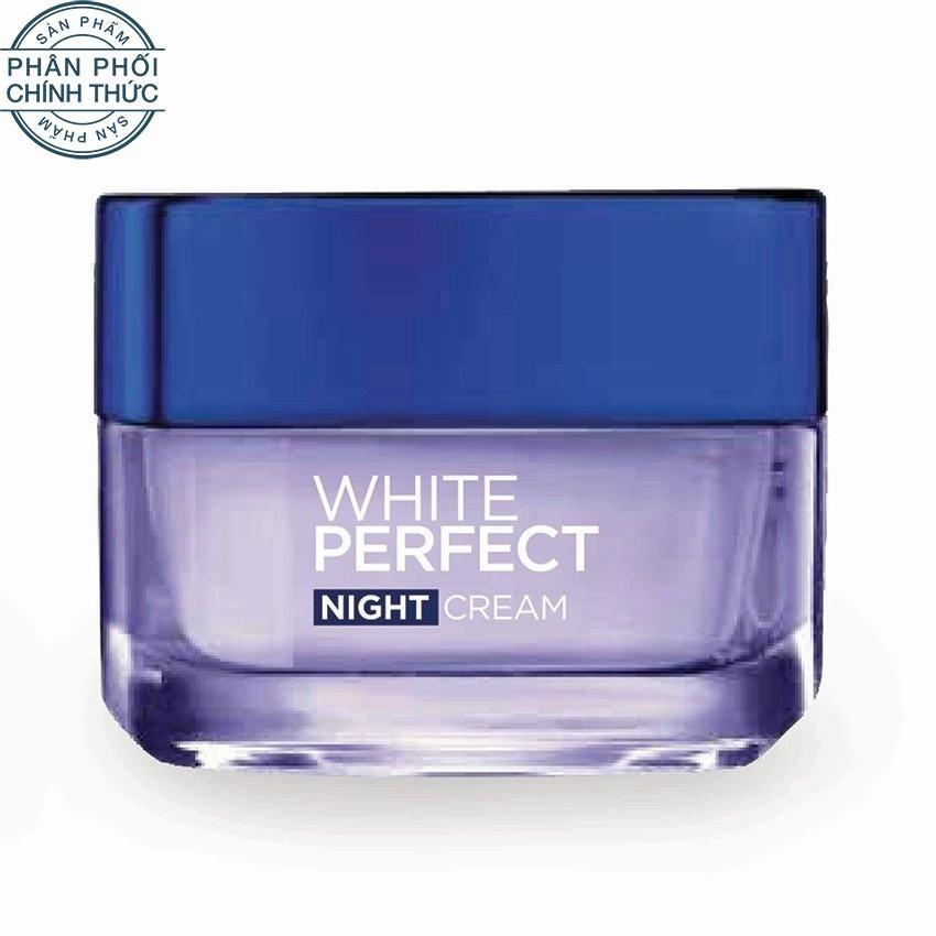Kem dưỡng trắng da vitamin L'oreal Paris White Perfect ban đêm 50ml