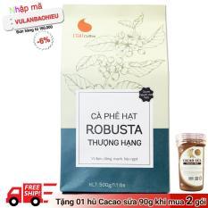 Cafe hạt Robusta nguyên chất 100% – Thượng hạng – Light Coffee – 500gr