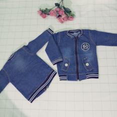 Áo khoác jean bò( Xanh) cho bé trai từ 1 tuổi đến 9 tuổi cân nặng từ 8kg đến 30kg