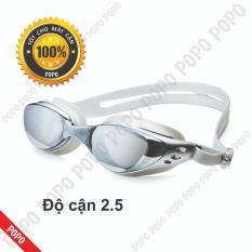 Kính bơi cận 2,5 độ thế hệ mới 610 kiểu dáng thời trang nhỏ gọn chống UV, chống sương mờ POPO Collection