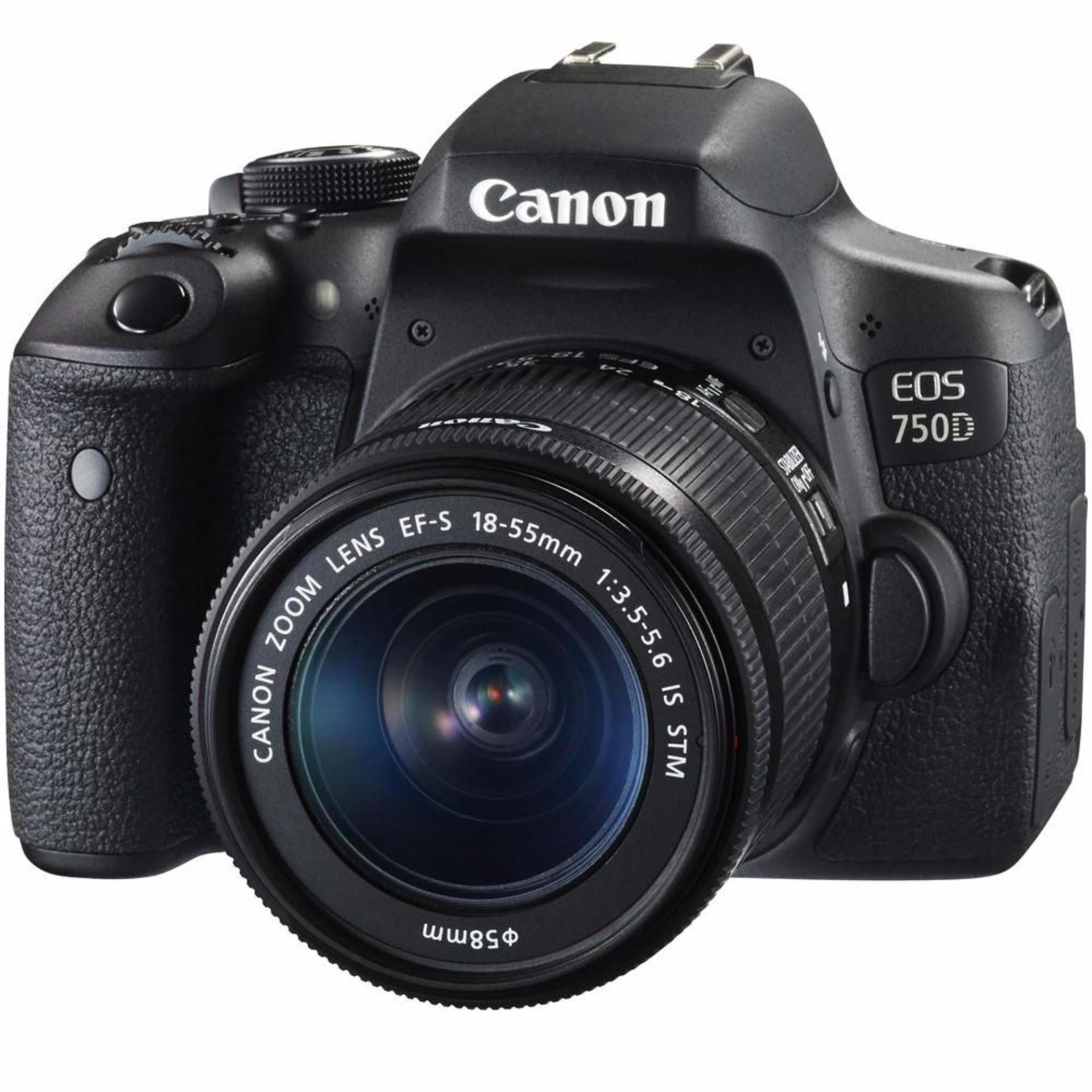 Canon EOS 750D 24.2MP với lens Kit 18-55 IS STM (Đen) + Tặng thẻ nhớ 16GB và túi máy ảnh