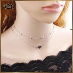 Vòng cổ 2 vòng dây mặt tim MT15