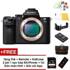 Máy ảnh Sony A7 mark II (Body) – Màu đen – Tặng thẻ nhớ 16GB + Túi + Combo 2 pin 1 sạc kép RAVPower + Bao halfcase + Gói appcol + Remote + Dán màn hình – Chính hãng SonyVN