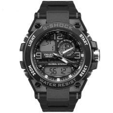 Đồng hồ thể thao nam chống nước 5 ATM hiện thị Led Sport Watch dây cao su cao cấp Smael DA02