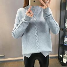 Áo len nữ form rộng cổ 3 phân model Hàn Quốc
