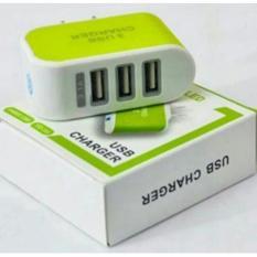 Cục sạc 3 cổng USB TTP (Xanh lá)