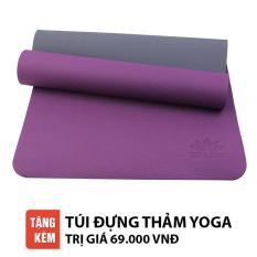 Thảm tập Yoga Zera TPE 2 lớp 8mm (Tím)