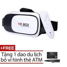 Kính thực tế ảo Vr Box Version 2, Tay cầm chơi game + Tặng 1 dao DL tv009081 – tv007864 -tv000126