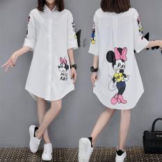 Váy Liền Sơ Mi Size Lớn Dáng Dài Vừa Hoạt Hìnhdành Cho Nữ
