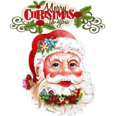 Combo 02 mặt Ông già Noel / cây thông dán trang trí Giáng Sinh (loại lớn)