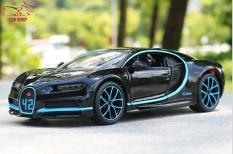 Xe mô hình hợp kim siêu xe Bugatti Chiron Maisto tỉ lệ 1:24 màu đen xanh