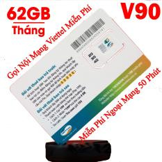 HOT 2018 Sim 3G/4G Viettel V90, KM 60GB/Tháng, Gọi miễn phí nội mạng-50 phút ngoại mạng