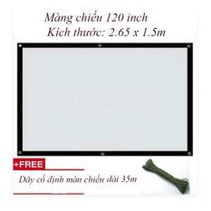 Màn chiếu treo tường kích thước: 2.65 x 1.5m (120inch)
