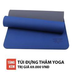 Thảm tập Yoga Zera TPE 2 lớp 8mm (Xanh Coban)