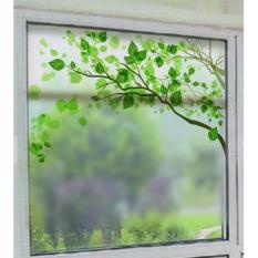 Decal trang trí kính cao cấp mẫu nhánh cây xanh 02 (58x60cm)