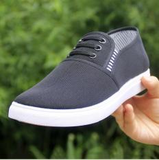 Giày lười nam vải đen gia ba dây