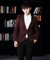 Áo khoác vest body HÀN QUỐC VN32 ( sọc nâu )