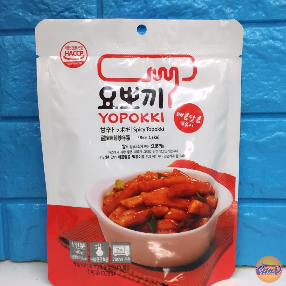 Bánh gạo Hàn Quốc Topokki Cay ngọt bịch