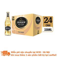 Thùng 24 chai nước táo lên men Strongbow Gold – Vị táo nguyên bản 330ml