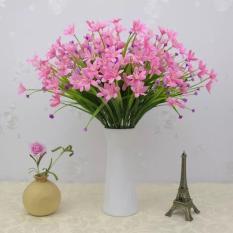 Hoa giả, cành hoa thủy tiên HTT-35 (1 cành 24-28 bông hoa), bông giả trang trí nhà cửa, để bàn trà phòng khách, phòng ngủ, làm giỏ hoa treo tường, làm hàng rào hoa để cầu thang, ban công, giếng trời