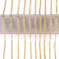 dây chuyền titan mạ vàng 18k như vàng thật-kiểu cổ điển