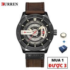 Đồng hồ nam dây da cao cấp chống nước CURREN CR01 – Arman Watches (Nâu Đen)