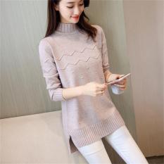 Áo len nữ dáng dài xẻ tà freesize al70